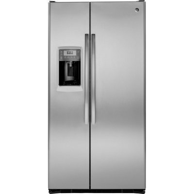GE Profile Series 24.6 cu. ft. Counter-Depth Side-by-Side Refrigerator - Stainless Steel