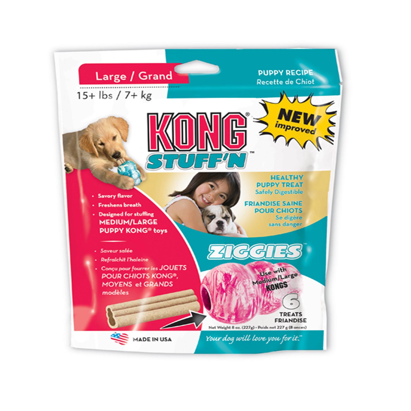 Kong Ziggies Puppy Large 8 oz