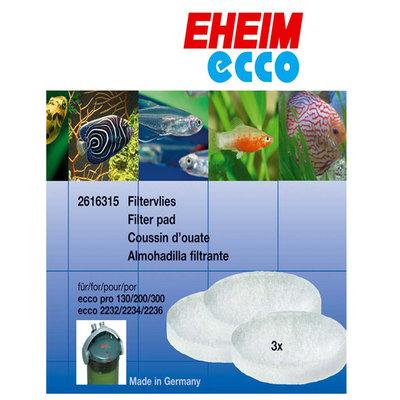 Topdawg Pet Supplies Eheim Ecco Filter Fine White Filter Pads