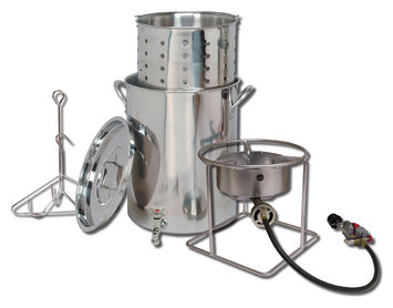 King Kooker Stainless Steel Outdoor Turkey Fryer with Basket