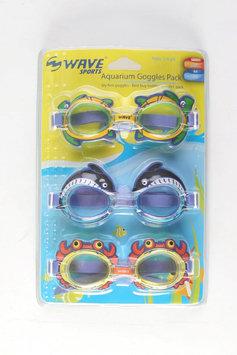 SANMERNA SALES LIMITED Kids Aquarium Goggles 3 Pack - SANMERNA SALES LIMITED