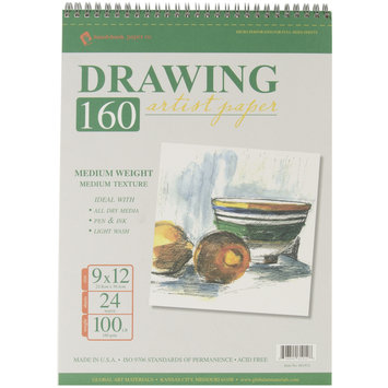 Global Art Spiral Drawing Pad, 9
