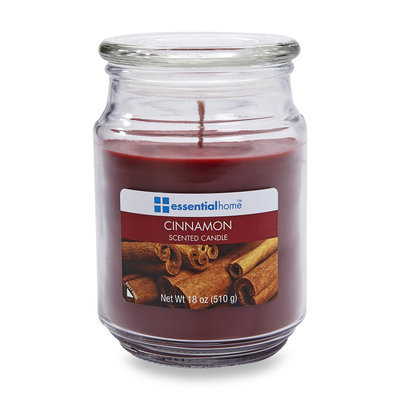 Essential Home 18 Ounce Jar Candle Cinnamon - LANGLEY PRODUCTS L.L.C.