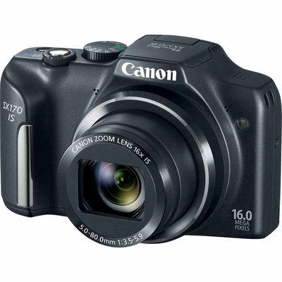 Canon PowerShot SX170 IS 16MP Black Digital Camera