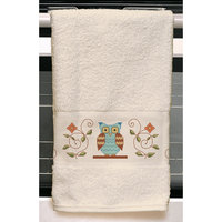 Janlynn Owl Kitchen Towel Stamped Embroidery Kit, 24