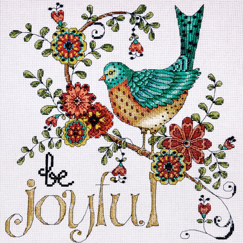 Design Works Crafts, Inc. Heartfelt Be Joyful Counted Cross Stitch Kit-10