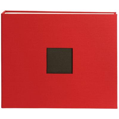 American Crafts 12x12 Cloth D-Ring Scrapbooking Album Red