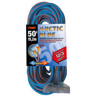 Prime Wire & Cable Prime Wire LT630830 Ultra Heavy Duty 50-Foot Triple Tap Artic Blue All-Weather TPE Extension Cord