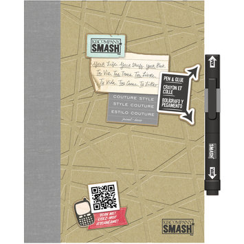 Eksuccess Brands SMASH Couture Folio 40 Pages-With Pen And Glue