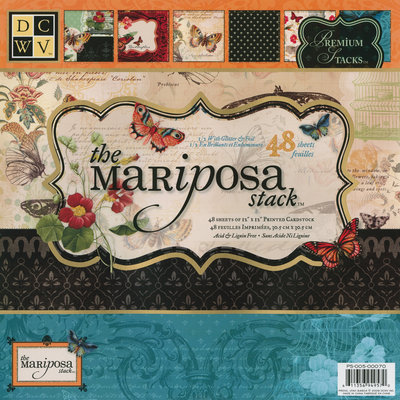 Diecuts With A View Mariposa Paper Stack, 12&quot x 12&quot, 48/Pack