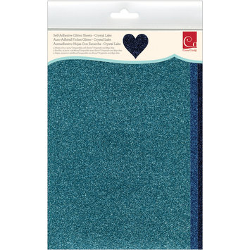 Cosmo Cricket COS-GS-68236 Cosmo Cricket Self-Adhesive Glitter Sheets 6X9 3/Pkg-Crystal Lake - Blue Hues