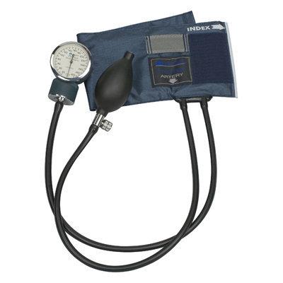 Mabis 09141013 Precision LatexFree Aneroid Sphygmomanometer Blue Nylon Cuff Infant