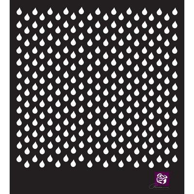 Prima Marketing, Inc. Designer Stencil 6 X6 -Raindrops