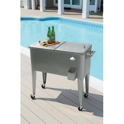 80qt Stainless Steel Patio Cooler* Limited Availability