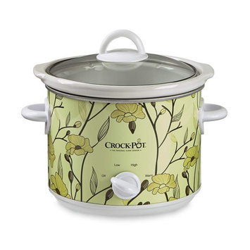 Crock-pot 3 Qt Manual Slow Cooker, Yellow Flower