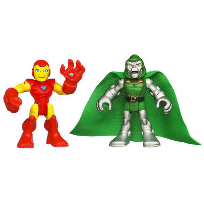 Playskool Heroes Marvel Super Hero Adventures Iron Man and Dr. Doom Figures - HASBRO, INC.
