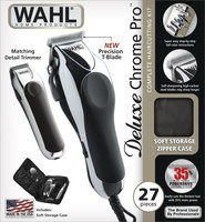 Wahl Deluxe Chrome Pro Complete Haircutting Kit