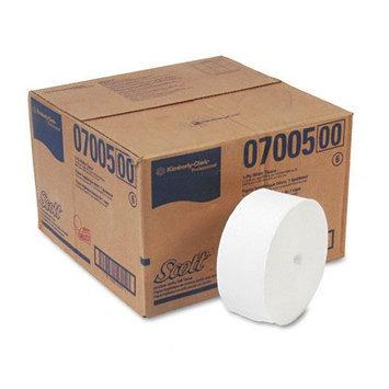 Kimberly-Clark SCOTT Coreless JRT Jr. Bathroom Tissue - 1 Ply - 12 / Carton - 3.78in. x 2300 ft - White