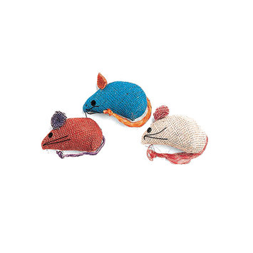 Ethical Pet Products Burlap Mice Colored 3