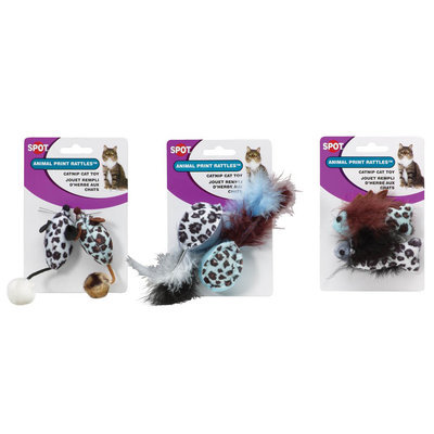 Ethical Cat 2658 Animal Print Rattle With Catnip
