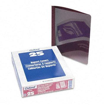 Esselte Pendaflex 53341 Linen Finish Report Cover Tang Clip 1/2 Capacity Burgundy 25 per Box