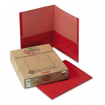 Esselte Pendaflex 78511 Recycled Paper Twin-Pocket Portfolio Red
