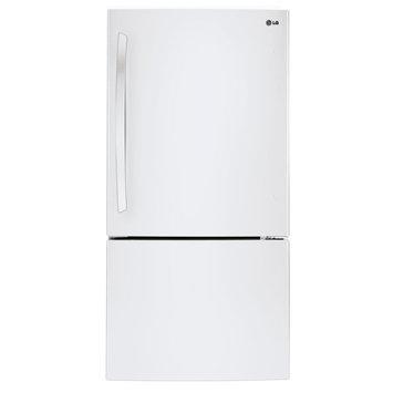 LG 24 cu. ft. Bottom-Freezer Refrigerator w/ Swing Door White