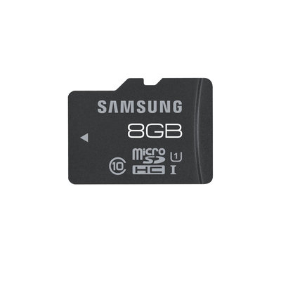 SAMSUNG 8GB Micro SDHC Flash Card w/ Adapter