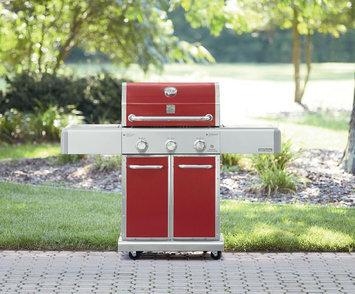 Kenmore Elite 3 Burner Dual Fuel Vermillion Red Gas Grill