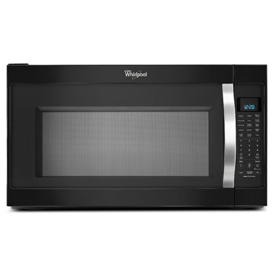 2.0 cu. ft. Over-the-Range Microwave w/ CleanRelease® Non-Stick Interior - Black w/Silver Handle