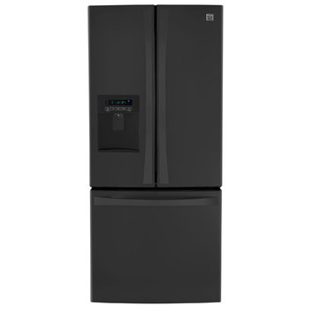21.6 cu. ft. French Door Bottom-freezer Refrigerator w/ Water Dispenser - Black