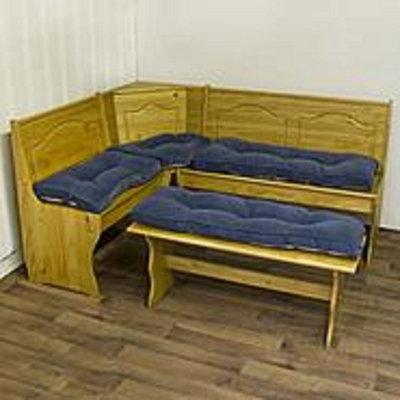 Greendale Home Fashions Hyatt 4-pc. Nook Cushion Set - Denim