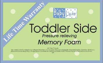 Baby Luxe L.A. Baby Babyluxe Memory Foam 2-in-1 Crib Mattress