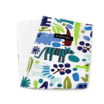 Ah Goo Baby Burp Cloth Pattern: Zoo Frenzy