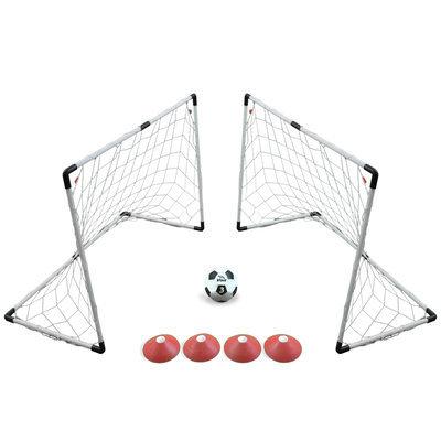Lion Sports Inc. Two Goal 4' x 3' Soccer Game Set
