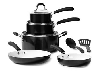 10-Piece Nonstick Ceramic Cookware Set, Black