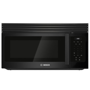 Bosch 300 Series HMV3062U 1.6 cu. ft. Over-the-Range Microwave Oven with 300 CFM Ventilation, 1,000 Cooking Watts, 10 Power Levels, Auto Defrost, Glass Turntable and LCD Display: Black