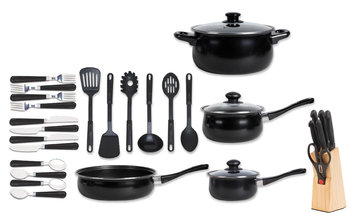 The Bartley Collection Total Kitchen 32 Piece Nonstick Cookware Set
