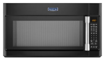 Maytag MMV6190DE 1.9 cu. ft. Over-the-Range Microwave Oven with 1000 Watts, 400 CFM Venting System, Stainless Steel Cavity, Interior Cooking Rack and EvenAir Convection Mode: Black