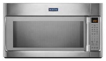 Maytag MMV6190DS 1.9 cu. ft. Over-the-Range Microwave Oven with 1000 Watts, 400 CFM Venting System, Stainless Steel Cavity, Interior Cooking Rack and EvenAir Convection Mode: Stainless Steel
