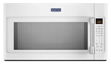 Maytag MMV6190DH 1.9 cu. ft. Over-the-Range Microwave Oven with 1000 Watts, 400 CFM Venting System, Stainless Steel Cavity, Interior Cooking Rack and EvenAir Convection Mode: White