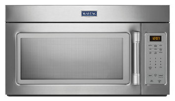 Maytag MMV1174DS 1.7 cu. ft. Over-the-Range Microwave Oven with 1000 Watts, 220 CFM Venting System, Stainless Steel Handle, Grease Filter, Hidden Vent and Incandescent Cooktop Lighting: Stainless Steel