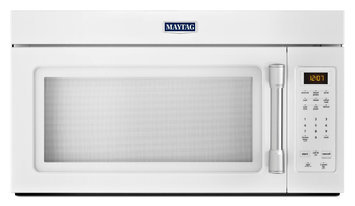 Maytag MMV1174DH 1.7 cu. ft. Over-the-Range Microwave Oven with 1000 Watts, 220 CFM Venting System, Stainless Steel Handle, Grease Filter, Hidden Vent and Incandescent Cooktop Lighting: White