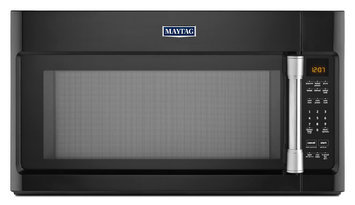 Maytag MMV4205DE 2.0 cu. ft. Over-the-Range Microwave Oven with 1000 Watts, 400 CFM Venting System, Stainless Steel Cavity, Speed Cook, Interior Cooking Rack and Incandescent Lighting: Black with Stainless Steel Accents