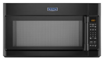 Maytag MMV4205DB 2.0 cu. ft. Over-the-Range Microwave Oven with 1000 Watts, 400 CFM Venting System, Stainless Steel Cavity, Speed Cook, Interior Cooking Rack and Incandescent Lighting: Black