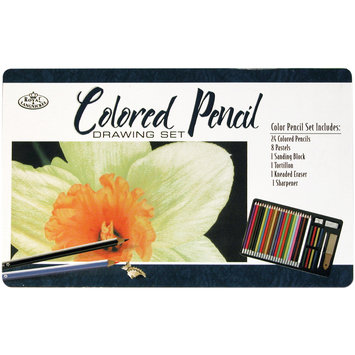 Royal Brush Colored Pencil Drawing Tin, 36 Pieces