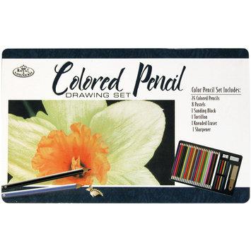 Royal Brush Colored Pencil Drawing Tin, 36 Pieces