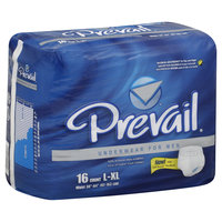 First Quality Products Inc. Underwear, for Men, Maximum Absorbency, Large/X-Large, 16 pair