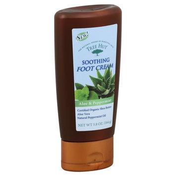 Naterra International Inc. Foot Cream, Soothing, Aloe & Peppermint, 5.8 oz (164 g)