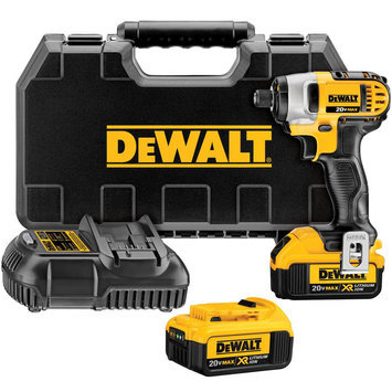 DEWALT DCF885M2 Cordless Impact Driver Kit,20V,1/4 In.